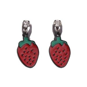 Children Clipon Earrings and Children Jewellery – Red Strawberry Drop Clip On Earrings