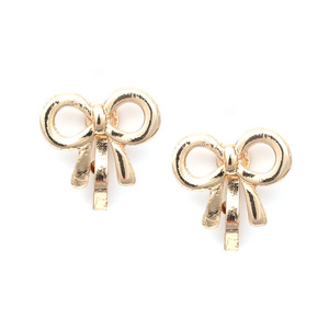Children Clipon Earrings and Children Jewellery – Gold-coloured Bows